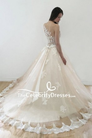 Ivory Applique Wedding Ball Gown TCDFD8168