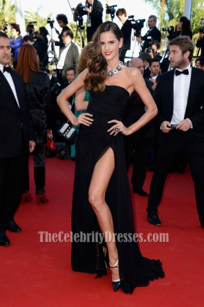 Izabel Goulart Black Prom Dress Cannes Film Festival Red Carpet
