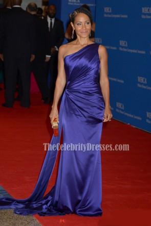 Jada Pinkett Smith One Shoulder Evening Prom Dress 2016 White House Correspondents' Association Dinner TCD6761