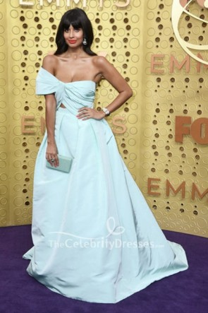 Jameela Jamil Off-the-Shoulder Dress 2019 Emmys