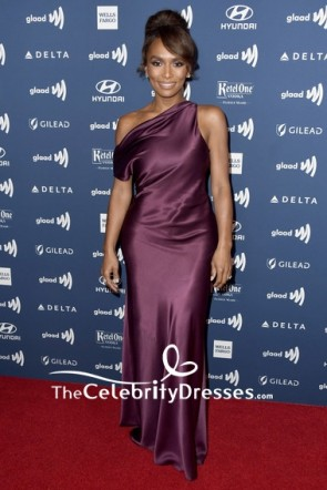 Janet Mock Off-the-Shoulder SheathColumn Prom Dress 2019 GLAAD Media Awards