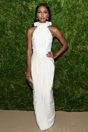 Jasmine Tookes Halter Dress 2019 CFDA/Vogue Fashion Fund Awards
