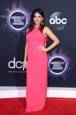 Jenna Dewan Pink Maternity Formal Dress 2019 American Music Awards
