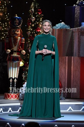 Jennifer Nettles Caped Long Evening Dress CMA 2016 Country Christmas  TCD6999