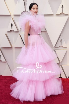 Kacey Musgraves Pink Ball Gown Oscars 2019 Red Carpet TCD8308