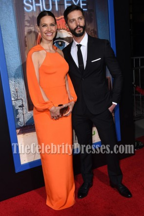 KaDee Strickland Orange Evening Column Dresses HULU premiere of Shut Eye TCD7054
