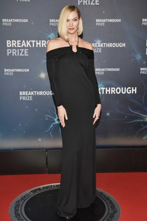 Karlie Kloss Black Long Sleeves Dress 2020 Breakthrough Prize