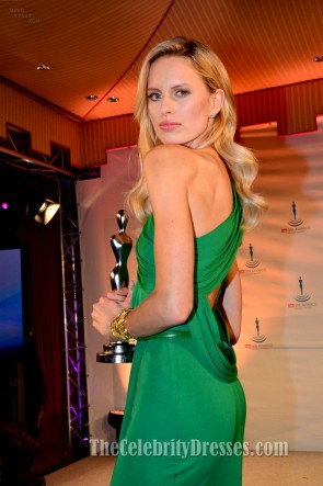 Karolina Kurkova Green One Shoulder Prom Dress Gala Spa Awards