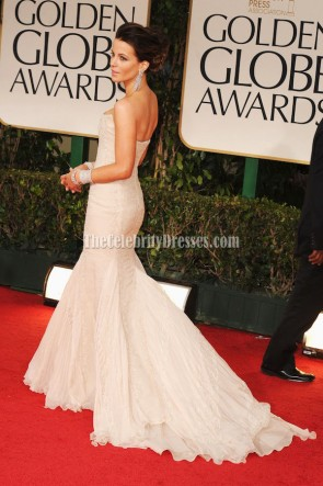 Kate Beckinsale Strapless Mermaid Prom Formal Dress 2012 Golden Globes