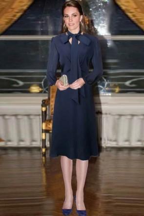 Kate Middle Dark Navy Short Dress