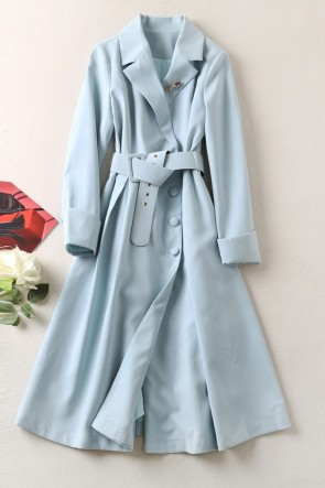 Kate Middleton A-line Lapel Trench Coat