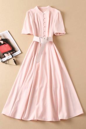 Kate Middleton Blushing Pink A-line Casual Dress