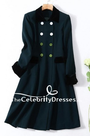 Kate Middleton Dark Green Coat Annual Irish Guards St Patrick's Day Parade TCD7615