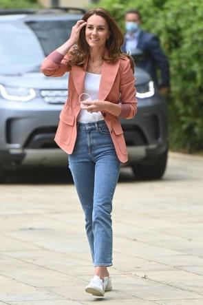 Kate Middleton Elastic Waist Temperament Work Blazer
