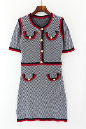 Kate Middleton Fashion Woolen Dress With Sleeves TCD7446