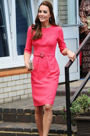 Kate Middleton Pink Short Dress