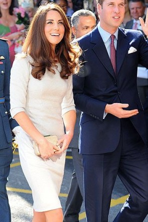 Kate Middleton Princess Elegant Gray Dress TCDTB8932