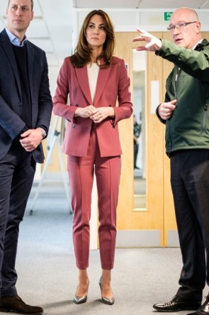 Kate Middleton Rose Suit Marks & Spencer's Autograph Line
