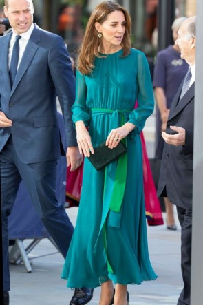 Kate Middleton Two Tones Maxi Dress Aga Khan Centre