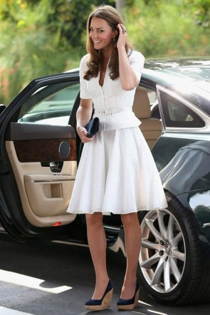Kate Middleton White Cut Out Dress