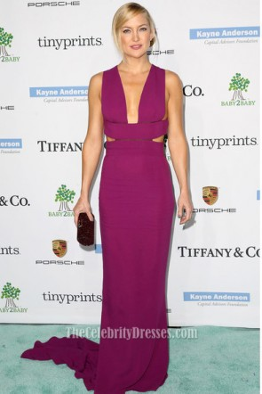 Kate Hudson The 2014 Baby2Baby Gala Fuchsia Evening Dress Prom Gown 3