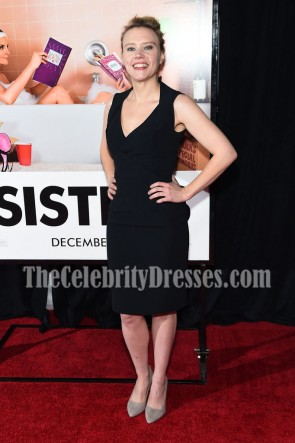 Kate McKinnon Black Cocktail Dress For Less Sisters New York Premiere TCD7055