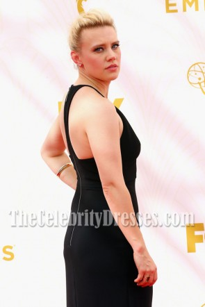 Kate McKinnon Black Deep V-neck Evening Prom Gown 67th Annual Emmy Awards TCD7056