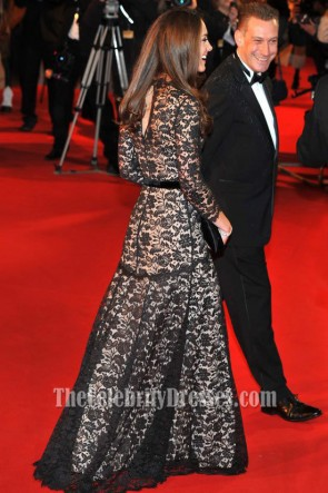 Kate Middleton Black Lace Formal Dress War Horse Premiere