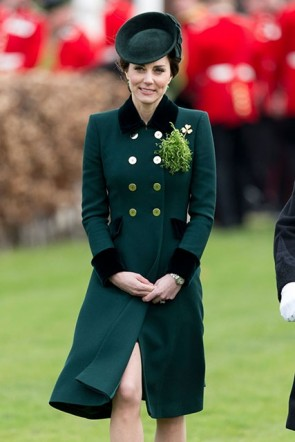 Kate Middleton Dark Green Coat Annual Irish Guards St Patrick's Day Parade
