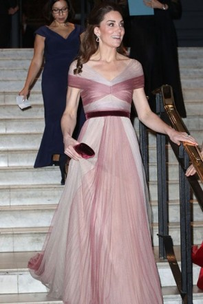 Kate Middleton Two Tones Ruffled Princess Dress
