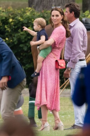 Kate Middleton Printed Pink Prince Louis Polo Match