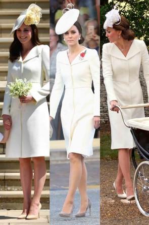 Kate Middleton White Cocktail Prom Dress 2019