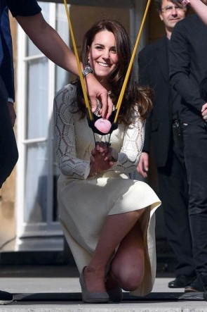 Kate Middleton White Cut Out Cocktail Dress With Long Sleeves TCDTB8510