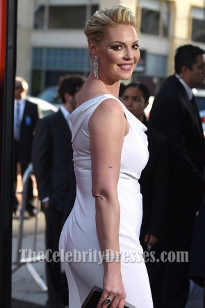 Katherine Heigl White Off-the-shoulder Evening Dress Premiere of  Unforgettable TCD7228