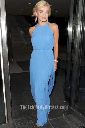 KATHERINE JENKINS Blue Chiffon Prom Dress Argiva Radio Awards 2012