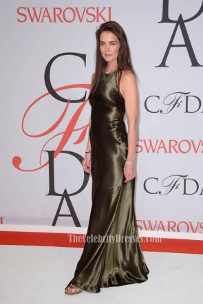 Katie Holmes 2015 CFDA Fashion Awards Spaghetti Backless Formal Dress  TCD6727