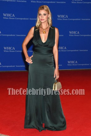 Kelly Rohrbach Deep V-neckline Slit Evening Prom Gown White House Correspondents' Association Dinner  4