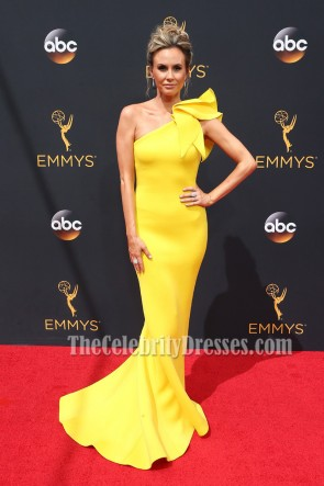 Keltie Knight Yellow One Shoulder Evening Prom Dress 68th Annual Primetime Emmy Awards 4