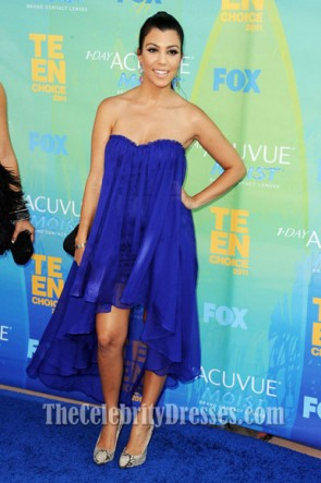 Kourtney Kardashian Royal Blue Prom Dress 2011 Teen Choice Award