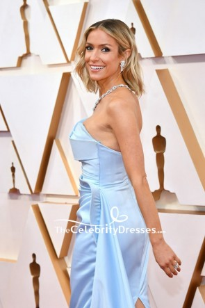 Kristin Cavallari  Baby Blue Strapless Formal Dress 2020 Oscars