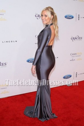 Kristine Leahy Long Sleeves Backless Mermaid Evening Dresses 41st Annual Gracie Awards TCD7016