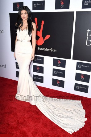 Kylie Jenner Elegant Mermaid Evening Formal Dress 2nd Annual Diamond Ball TCD6806