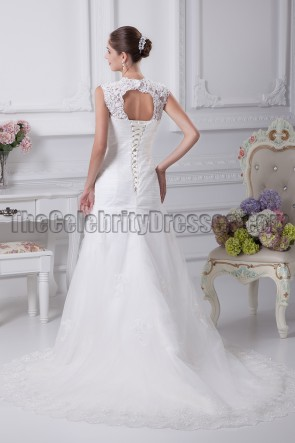 Lace Sweetheart Embroidery A-Line Wedding Dresses