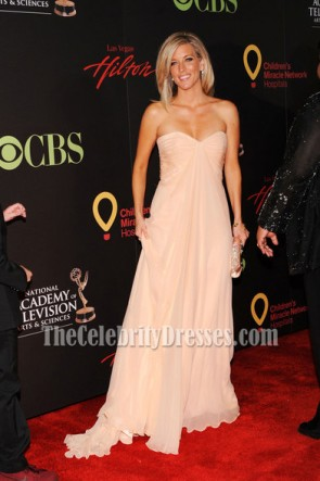 Celebrity Dresses Laura Wright Strapless Prom Dress 38th Annual Daytime Emmy Awards Red Carpet