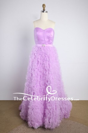 Lavender Strapless Ball Gown Wedding Dress For Sale