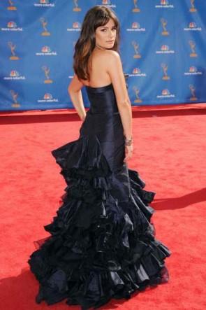 Lea Michele Mermaid Navy Evening Formal Dress 62nd Emmy Awards