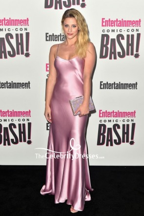 Lili Reinhart Pink Slip Spaghetti Strap Dress Entertainment Weekly Comic-Con celebration