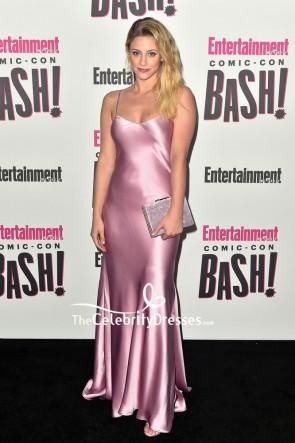 Lili Reinhart Pink Slip Spaghetti Strap Dress Entertainment Weekly Comic-Con celebration