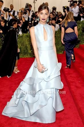 Lily Aldridge A-Line Formal Dress 2015 Met Gala Red Carpet Gown