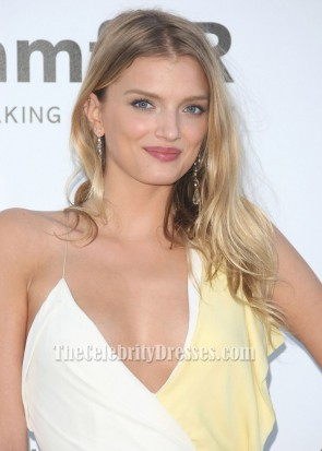 Lily Donaldson Long Evening Prom Dress Amfar gala 2012 Cannes Celebrity Dresses